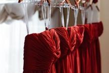 Red Weddings / Bridal Gown Inspirations for Red weddings and Ruby Weddings. Wedding gowns, Bridesmaid Gowns, Bridal Cakes, Weddings Flowers