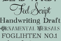 Fonts and Graphics / by Kate Anthony