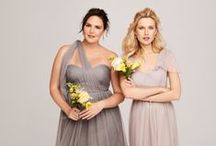 Plus Size Bridesmaids / Great options for bridesmaids of all sizes! / by Pretty Pear Bride® | Plus Size Bridal Magazine
