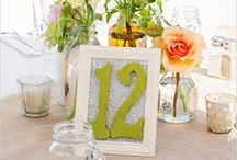 Wedding Table Numbers / Different ways to number your reception tables / by Pretty Pear Bride® | Plus Size Bridal Magazine