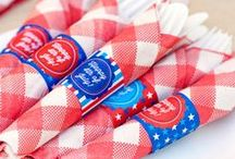 Memorial Day/ 4th of July / Show your patriotic side with these great ideas! Maybe have a 4th of July Wedding