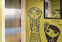 decoração do hall social / by Eliani Mischiatti
