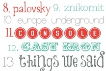 Fonts / Great fonts for your wedding signage and invitations