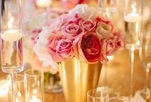 Color Inspiration ~ Gold and Pink / Gold and Pink color scheme wedding inspiration