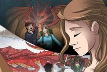 """Raising Dragons Graphic Novel / Thousands of years ago, Merlin saved the dragon race from the blood thirsty slayers by turning them into humans. Now in modern times, these long living """"dragons"""" have married normal humans produced offspring with dragon traits. A boy learns he has dragon breath and meets a girl who was born with dragon wings. They work together to escape the clutches of a modern day slayer who want nothing more than to rid the Earth of all dragons and their half breed children."""