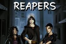 Reapers / Reapers (written by Bryan Davis) is a dystopian tale with a supernatural twist. Along with a blend of real life and imagination, it delivers action, danger, and suspense through the adventures of three teenagers—Phoenix, Singapore, and Shanghai—Reapers who collect the souls of the dying or already dead and transport them to the Gateway where they will travel to their final destination … or so they are told.