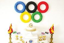 Olympic Themed Birthday Party / The perfect birthday party theme to have healthy snacks, keep the kids active all while having a blast! #Olympic #Theme #Birthday #Children #Kids