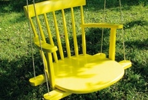Furniture Creations / Turn a #chair, #stool, or #table into something fresh by breathing new life - and purpose - into it!