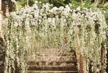 Floral arches and Chuppah's