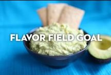 Flavor Field Goal /  Snacking our way through Game Day.