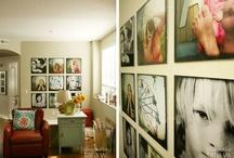 stairwell/photo arrangement / by Christine Welch-Meier