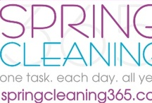 Spring Cleaning 365 / Spring Cleaning made easy. One task. Each day. All year. Come join us! It's never too late to get clean and organized! / by i Dream of Clean