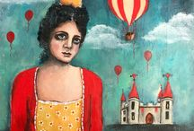 Mixed Media Whimsical Art by Zera / A collection of whimsical, romantic and surreal paintings and mixed media art by Zera Derrig