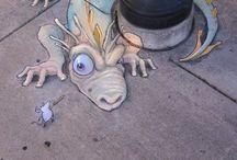 Chalk art / Street artwork / by Lynn Guerrero Goldman