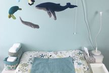 Babyzimmer / Einrichtungs- und Dekoideen für das Babyzimmer - in Minttönen und Beige - geschlechtsneutral