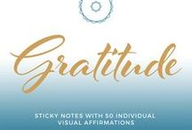 Gratitude / Expressing gratitude and cultivating a lifestyle of thanks increases your happiness and wellbeing. Stick these affirmations and mantras of Gratitude anywhere you want to spark a positive attitude.   Get Yours Here ----> https://visionwords.co/collections/all/products/gratitude