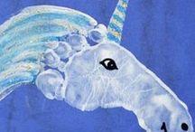 Hand- und Fußabdrücke / Drucken mit Händen und Füßen - Ideensammlung für Babys und Kleinkinder