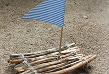 DIY Ideen | Holz & Naturmaterialien / DIY Ideen für Kinder zum Werken mit Holz und Naturmaterialien / Werken für die Grundschule