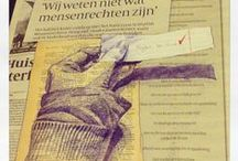 My Image Diary - Daily Junk Trunk  / Image Diary with collages and drawings on newspaper by Ellen van Putten