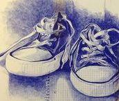 Bic Art - Ballpoint Art / Bic Art / Ballpoint Art / Ballpen Art / Kugelschreiber Kunst / l'Art Stylo
