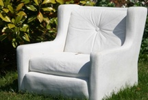 Concrete Chairs, Benches, Stools, Sofas (Seating Furniture)