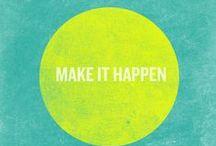 Poster : Inspirierende Wörter / Inspirierende Worte als Poster, Postkarte oder Bildschrimhintergrund...