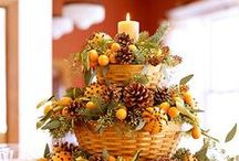 FALL Decor / red orange and yellows