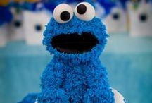 Cookie Monster Party Ideas / Cookie Monster cupcakes, pumpkins, party ideas and more.