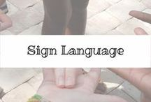Sign Language / All the resources, dvds, books or cd's that will help you when teaching your child sign language. #signlanguage