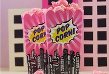 Pink Superhero Party / Browse our pink superhero party ideas to find out how to throw an awesome pop art superhero party.