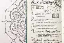Bullet Journal : *Inspiration* / Bullet Journaling als Mittel zur Organisation, als auch als individueller ganz persönlicher Ausdruck seiner Selbst...