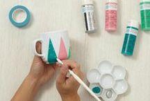 DIY : *Painting & Printing* / Selbermachen mit Farbe. Alles was man Malen und Drucken kann...