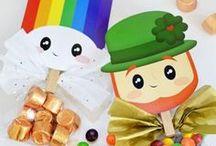 Celebrations : *St. Patrick's Day* / Der irische Feiertag St. Patricks Day wird mit Goldtopf, Kleeblatt und Leprechaun ist gefeiert.  Kindergerechte Ideen für einen gelungen Tag in grün.