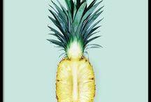 Trend : *Pineapple* / Who doesn't love pineapple?! Ananas in jeglicher Form, als Dekoration, zum Essen, als Template, als Schmuck ...