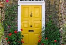 Knock Knock  / Man, I love a good door and I cannot wait until I can decorate one!