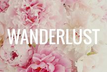Wanderlust / A board all about traveling and the places we have been and want to go.