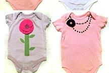 Onesie Madness / sweet baby onesie embellishment inspirations, plus a few I've made myself.  :)