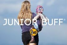Junior BUFF® & Junior UV BUFF® / Send the kids out to play! Junior Buff® headgear fits comfortably fits kids ages 4-11, even if they're wearing helmets. Perfect for younger hikers, bikers, boarders and skate park show-offs.