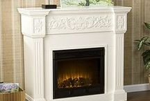 White Party / A beautiful collection of white electric fireplaces + decor items for summer.