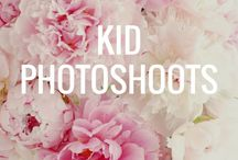 Kid photo session / Inspirations for kid photo shoots