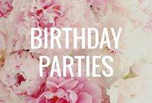Birthday Parties / Ideas for planning my favorite...kid birthday parties!!