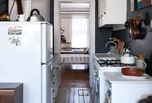 Apartment Style Kitchens /  Small, Diy Kitchens / by Emily Malone