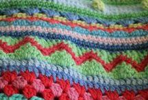 Crochet -stripey blanket