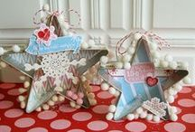 altered cookie cutters and tart tins