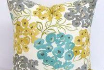 Apartment Finds: Living Room / Living Room Ideas: Soft Grey + Light Yellow + Dusty/Robin's Egg Blue + My Paris stuff