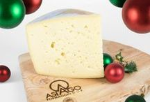 Merry Christmas with PDO Asiago / We wish you a good and healty Christmas with Asiago PDO  Cheese, a precious jewel of natural goodness.