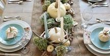 Tablescapes / Table setting ideas and inspiration. Beautifully decorated tables to wine and dine...