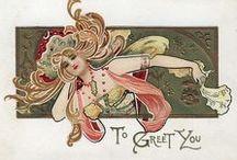 Art Nouveau Art & Decor / Art Nouveau, 1890-1910. Belle Epoque, 1871-1914. Edwardian, 1901-1910  / by Heather Cox