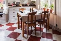 Decor: FLOORS  / From the bottom up: flooring, carpets, rugs.... / by Songbird Blog