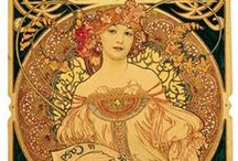 Alphonse Mucha, 1860-1939 / muchafoundation.org Alfons Maria Mucha, often known in English and French as Alphonse Mucha, was a Czech Art Nouveau painter and decorative artist, known best for his distinct style. He produced many paintings, illustrations, advertisements, postcards, and designs. / by Heather Cox